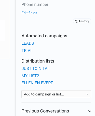 Sidebar for email campaigns
